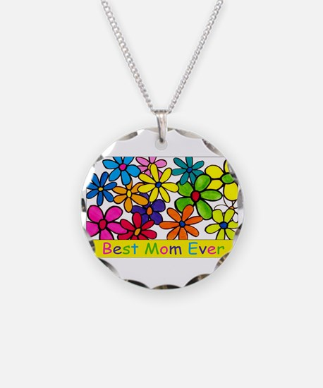 Best ever mom colorful flower Necklace