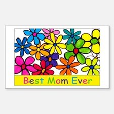 Best ever mom colorful flower Decal