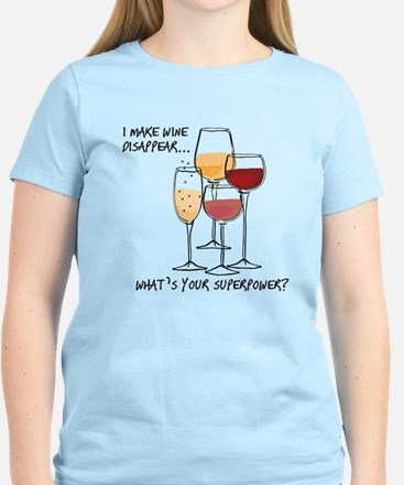 I make wine disappear what is your superpower? T-S