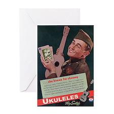 Ukuleles Satisfy! Greeting Cards