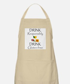 Drink Responsibly Drink Gluten-Free Flowers Apron
