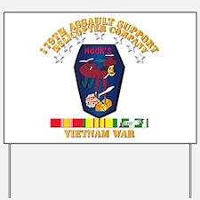 179th ASH Co - VN War SVC Ribbons Yard Sign