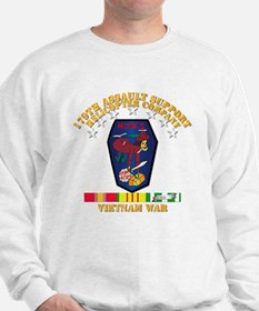 179th Ash Co - Vn War Svc Ribbons Sweatshirt