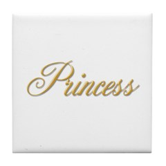 Gold Princess Tile Coaster