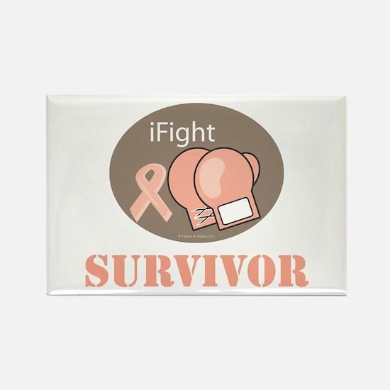I Fight Breast Cancer Survivor Rectangle Magnet