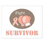 I Fight Breast Cancer Survivor Small Poster