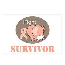I Fight Breast Cancer Survivor Postcards (Package