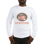 I Fight Breast Cancer Survivor Long Sleeve T-Shirt