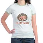 I Fight Breast Cancer Survivor Jr. Ringer T-Shirt