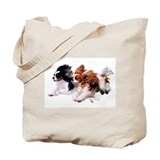 King charles cavalier Canvas Totes