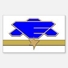 Flag Officer Sticker (Rectangle)