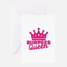Burpees queen Greeting Card