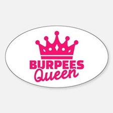 Burpees queen Sticker (Oval)