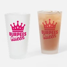 Burpees queen Drinking Glass