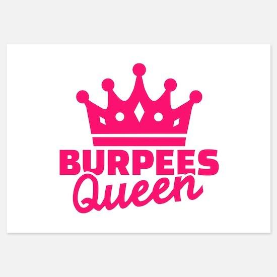 Burpees queen Invitations