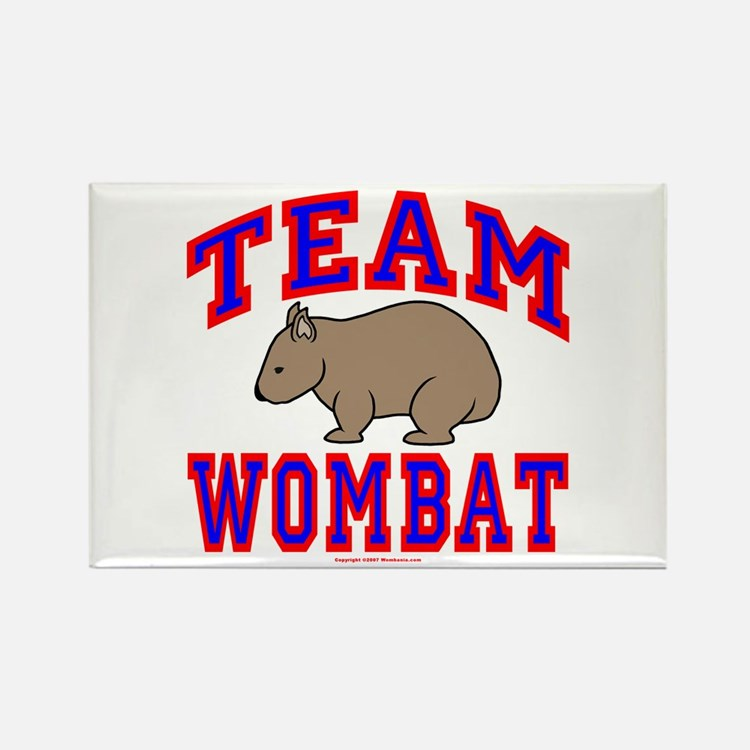 Team Wombat VI Rectangle Magnet