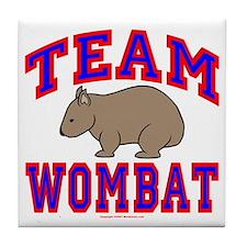 Team Wombat VI Tile Coaster