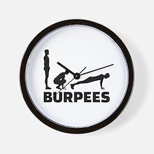 Burpees Wall Clock