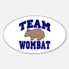 Team Wombat IV Oval Decal