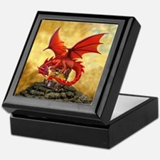 Red Dragon's Treasure Chest Keepsake Box