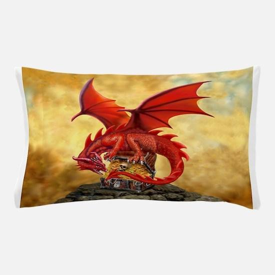 Red Dragon's Treasure Chest Pillow Case