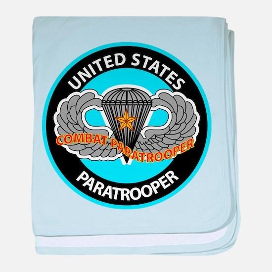US Combat Paratrooper baby blanket