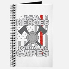 Firefighter Real Heroes Don't Wear Capes Journal