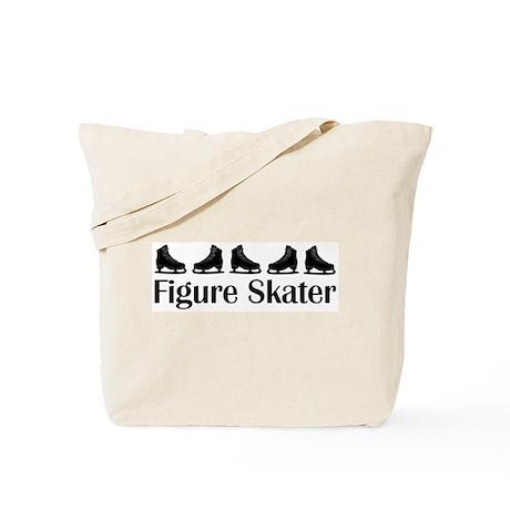 Figure Skater Black Ice Skates Tote Bag