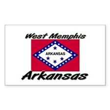 West Memphis Arkansas Rectangle Decal