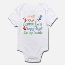 Rugby Player Like Daddy Infant Bodysuit