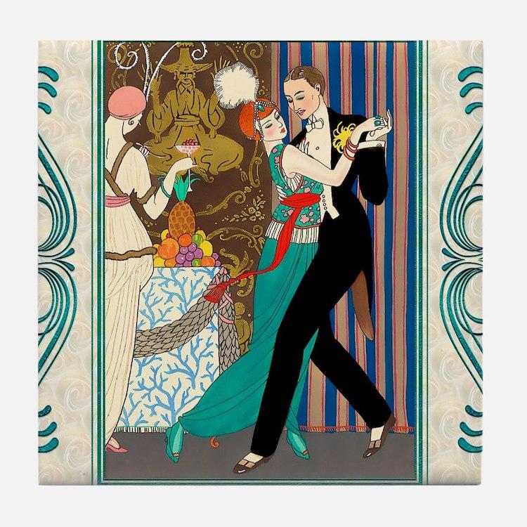 Barbier Tango, La Danse Tile Coaster