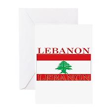 Lebanon Lebanese Flag Greeting Card