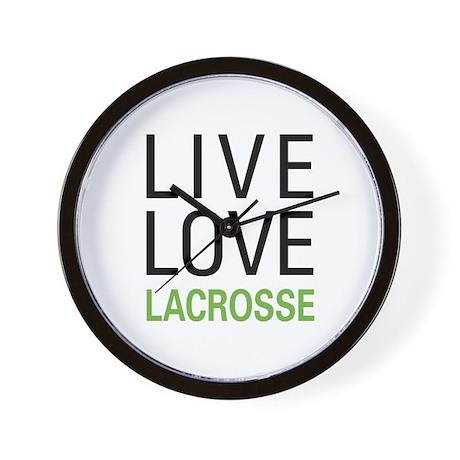 Live Love Lacrosse Wall Clock