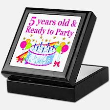 5TH BIRTHDAY Keepsake Box