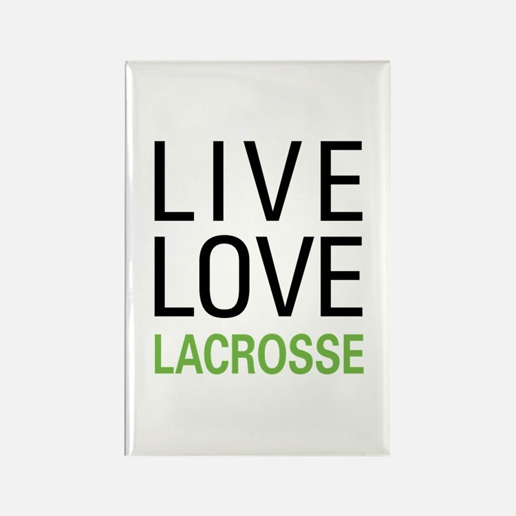 Live Love Lacrosse Rectangle Magnet