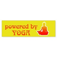 Powered By Yoga Bumper Sticker