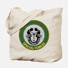 US Army Special Forces Emblem Tote Bag