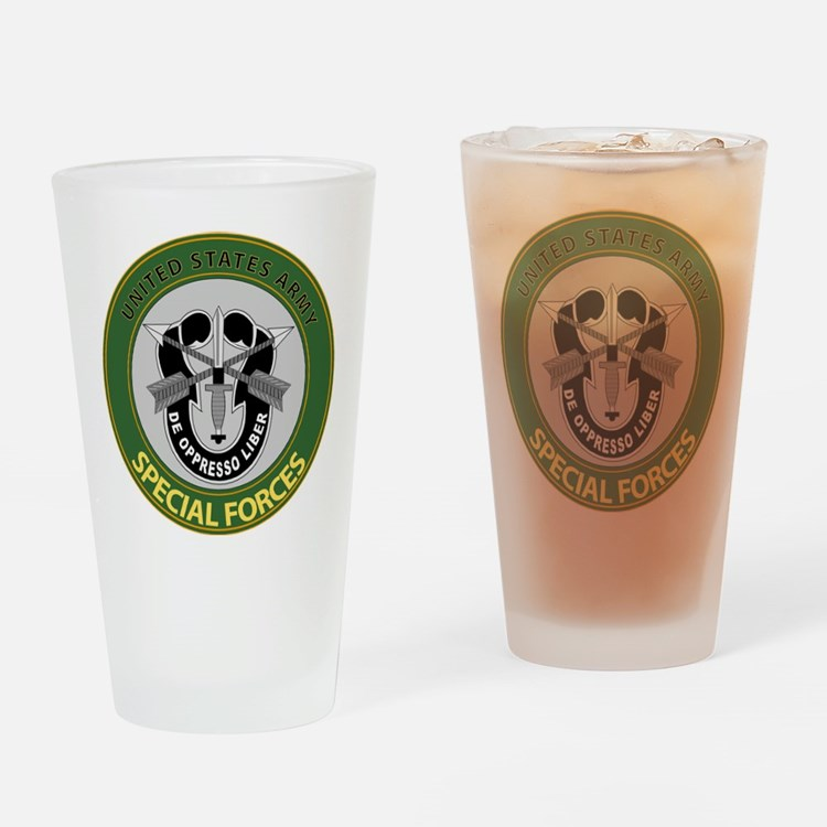 US Army Special Forces Emblem Drinking Glass