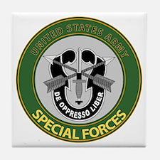 US Army Special Forces Emblem Tile Coaster
