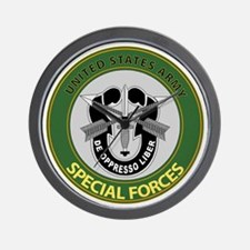 US Army Special Forces Emblem Wall Clock