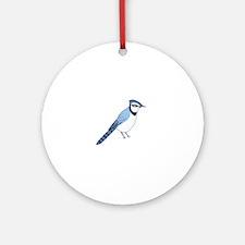 Cute Blue jays Round Ornament