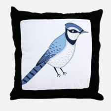 Cute Song bird Throw Pillow