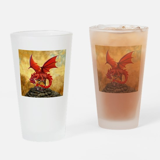 Red Dragon's Treasure Chest Drinking Glass