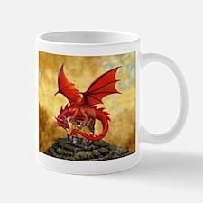 Red Dragon's Treasure Chest Mugs