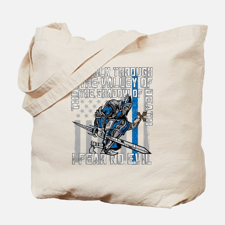 I Fear No Evil Police Crusader Tote Bag
