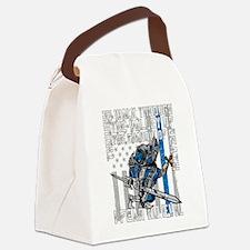 I Fear No Evil Police Crusader Canvas Lunch Bag