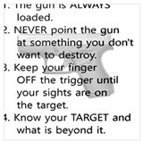 4 rules of gun safety Posters