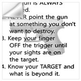 4 rules of gun safety Wall Decals