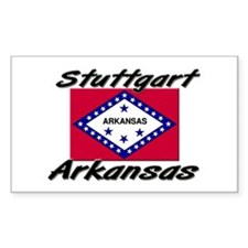 Stuttgart Arkansas Rectangle Decal