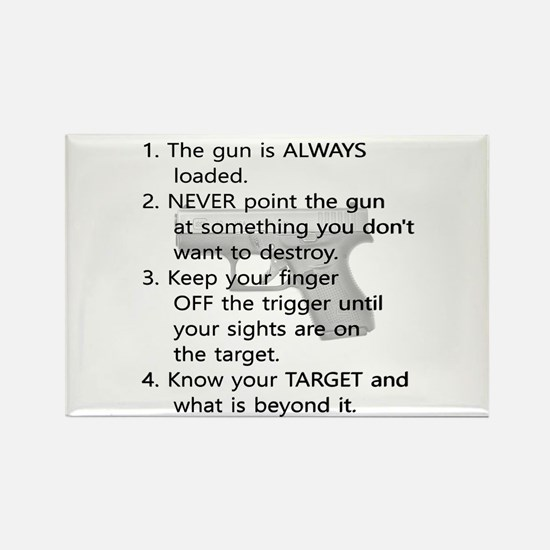 Rules Of Gun Safety Magnets